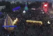 Встречаем новый год на площади в Рыбнице