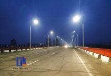 Мост Рыбница-Резина: зажглись фонари