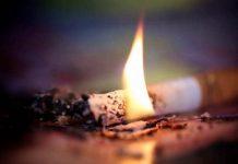 Неосторожность при курении привела к пожару