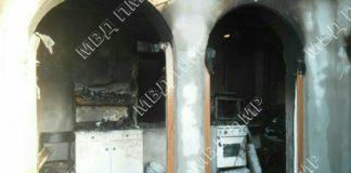 В селе Малаешты сгорел дом