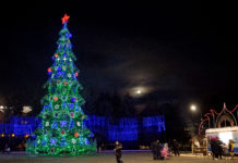 Новогоднее оформление рыбницкой площади Победы признано лучшим в республикеп