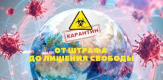 Какое наказание ждет приднестровцев за нарушение карантинных мер