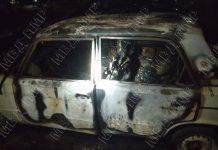 Ночью в Рыбнице сгорел автомобиль