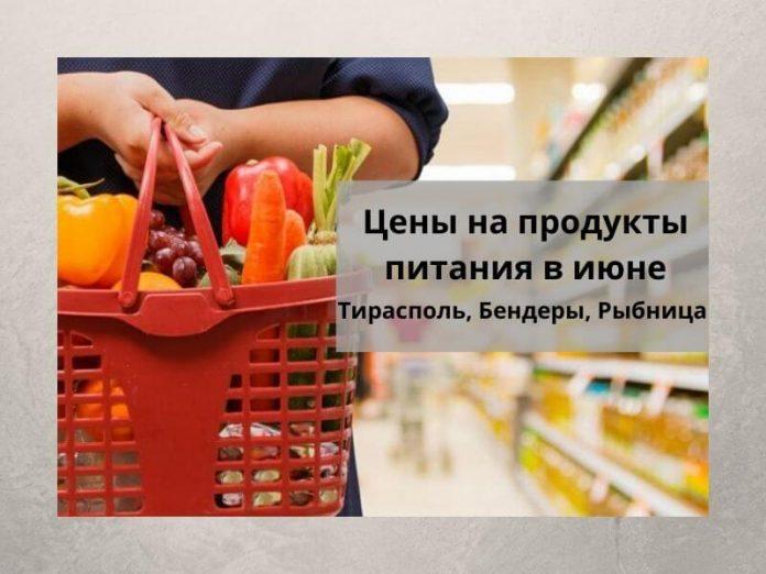 Цены на продукты питания в июне