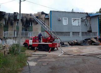 Инспекторат полиции в Резине: сгорела крыша