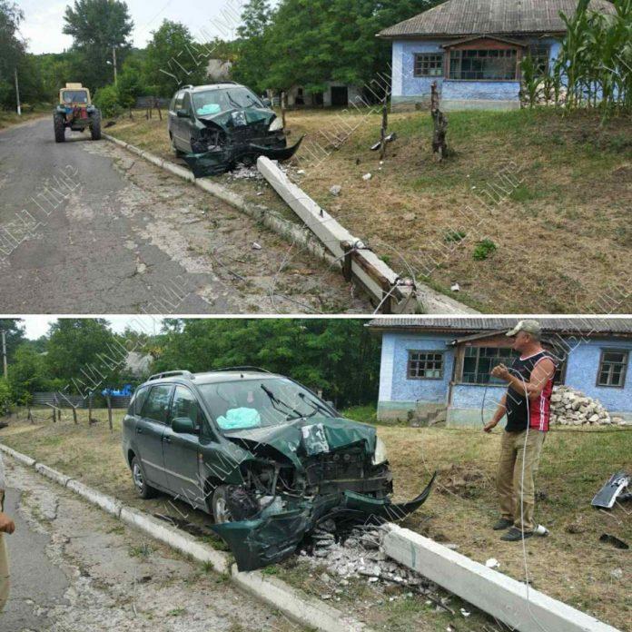 Нетрезвый водитель врезался в столб. ДТП в селе Колбасна