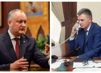 Вадим Красносельский провёл телефонный разговор с Игорем Додоном. Фото: cenzura.md