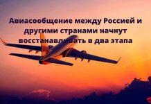 Россия начнет снимать ограничения на авиаперелеты за рубеж с 15 июля