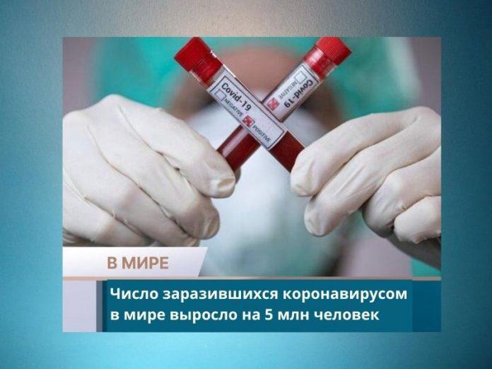 Число заразившихся коронавирусом в мире выросло на 5 млн человек