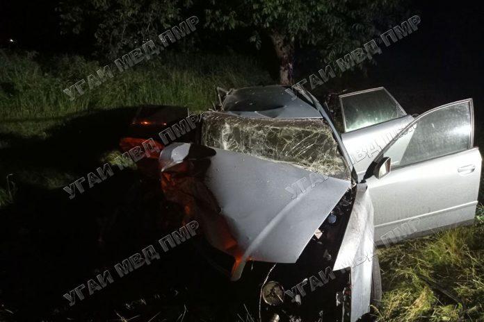 Ночное ДТП по вине пьяного водителя
